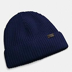 COACH F85140 Rib Knit Hat NAVY