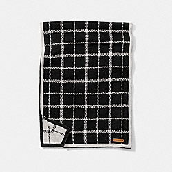 COACH F85215 - TATTERSALL SCARF BLACK/WHITE