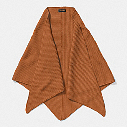 COACH F85268 Merino Triangle Scarf CAMEL