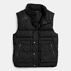 COACH F85271 Summit Down Vest BLACK