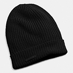 COACH F85280 - MERINO KNIT HAT  BLACK