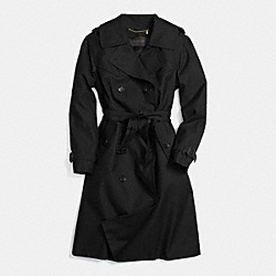 COACH F85283 - LONG TRENCH BLACK