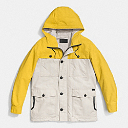 COACH F85287 - SAILING JACKET  YELLOW/KHAKI