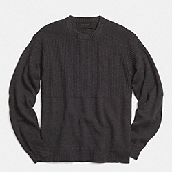 COACH F85297 Merino Workwear Pullover ASH