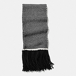 COACH F85304 Wool Birdseye Scarf BLACK/WHITE BLACK MULTI