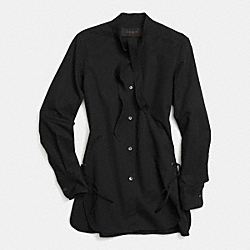 COACH F85499 Cotton Tie Collar Shirt BLACK