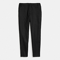 WOOL SLIM PANT - f85522 - BLACK