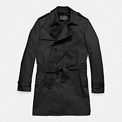 COACH F85689 Trench Coat  BLACK