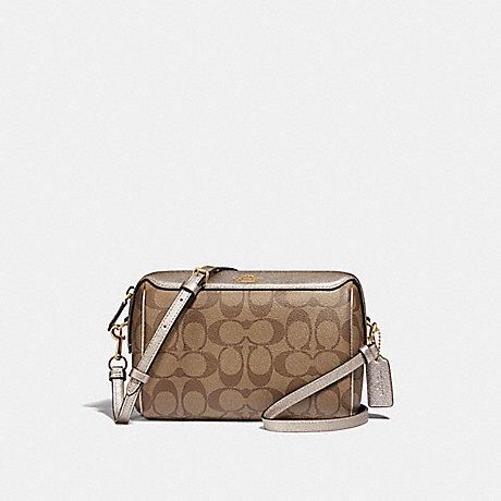 COACH F85697 BENNETT CROSSBODY IN SIGNATURE CANVAS IM/KHAKI-PLATINUM