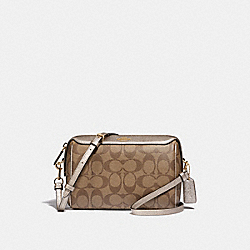 COACH F85697 - BENNETT CROSSBODY IN SIGNATURE CANVAS IM/KHAKI PLATINUM