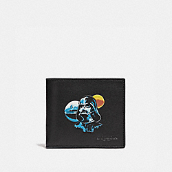 STAR WARS X COACH 3-IN-1 WALLET WITH DARTH VADER - F85706 - QB/BLACK