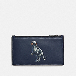 STAR WARS X COACH ZIP CARD CASE WITH TAUNTAUN - F85708 - QB/MIDNIGHT