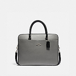 COACH F85709 Laptop Bag In Colorblock SV/HEATHER GREY MULTI