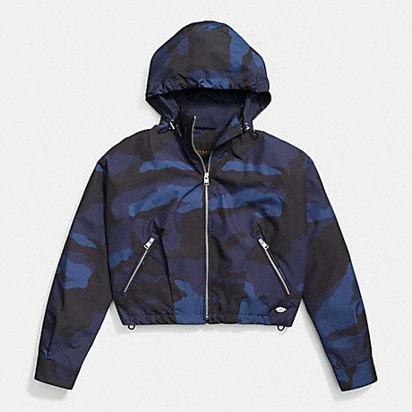 COACH CAMO WINDBREAKER -  BLUE/MULTICOLOR - f85734