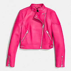 COACH F85736 - RACER JACKET  PINK RUBY