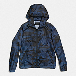 COACH F85862 Packable Camo Windbreaker  BLUE CAMO