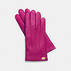 COACH F85876 Basic Leather Glove CRANBERRY