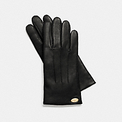 COACH F85876 Basic Leather Glove IMITATION GOLD/BLACK F37336