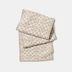 COACH F86019 Signature Knit Scarf CAMEL/VANILLA