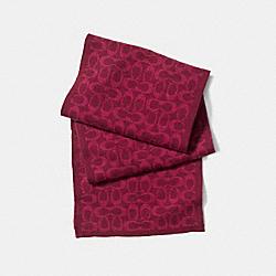 COACH F86019 Logo Knit Scarf EIS