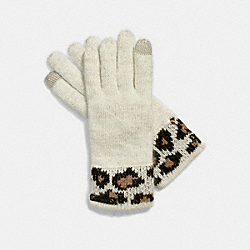 COACH F86022 Ocelot Touch Glove CHALK MULTI