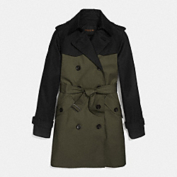 COACH F86035 Colorblock Trench MILITARY MULTI