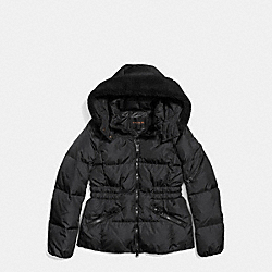 COACH F86038 Icon Short Puffer BLACK
