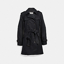 SOLID TRENCH - f86052 - BLACK