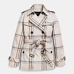 COACH F86119 - TATTERSALL SHORT TRENCH EGE