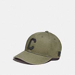 COACH F86147 Varsity C Cap GREEN
