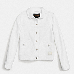 COACH F86231 Jean Jacket WHITE