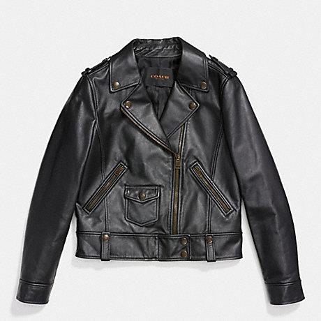 COACH F86431 LEATHER MOTO JACKET BLACK