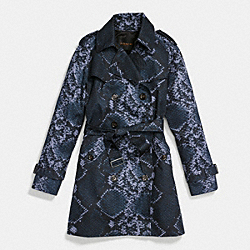 COACH F86436 - PYTHON BLOCKED TRENCH MIDNIGHT NAVY/NAVY