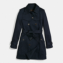 EYELET TRENCH COAT - f86462 -  MIDNIGHT NAVY