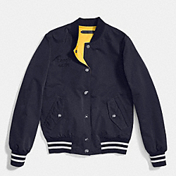 COACH F86463 - REVERSIBLE VARSITY JACKET MID NAVY/SUNFLOWER