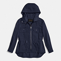 COACH F86465 Sporty Zip Windbreaker MIDNIGHT NAVY