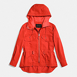 COACH F86465 Sporty Zip Windbreaker CAYENNE