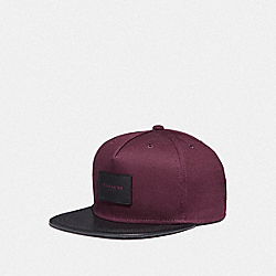COACH F86475 Flat Brim Hat In Colorblock OXBLOOD