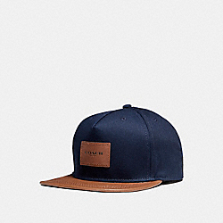 COACH F86475 Flat Brim Hat In Colorblock TWILIGHT