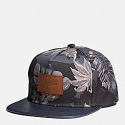 FLAT BRIM HAT IN CANVAS - f86478 - HAWAIIAN PALM