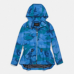COACH F86504 - CAMO SPORTY ZIP WINDBREAKER MULTICOLOR