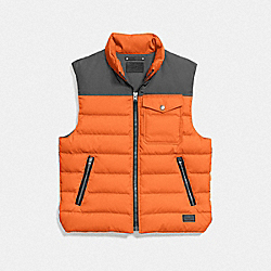 COACH DOWN VEST - ORANGE - F86510