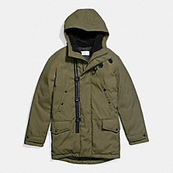 COACH F86513 Down Parka OLIVE