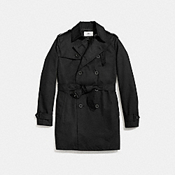COACH F86514 Trench Coat BLACK