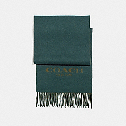 COACH F86542 Cashmere Blend Bi-color Signature Scarf FOREST/DARK OLIVE