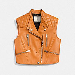 COACH F86644 Surf Biker Vest BUTTERSCOTCH