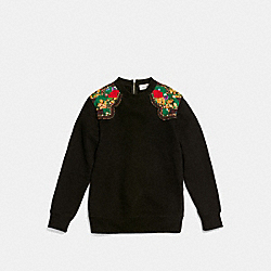 COACH WESTERN SURF SWEATSHIRT - BLACK - F86719