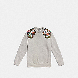 COACH WESTERN SURF SWEATSHIRT - GRAY - F86719