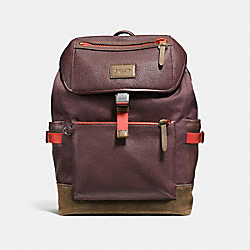 COACH F86735 Manhattan Backpack OXBLOOD/FATIGUE/BLACK ANTIQUE NICKEL