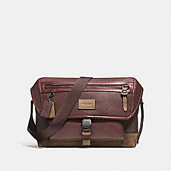 MANHATTAN BIKE BAG - f86739 - BLACK ANTIQUE NICKEL/OXBLOOD/FATIGUE